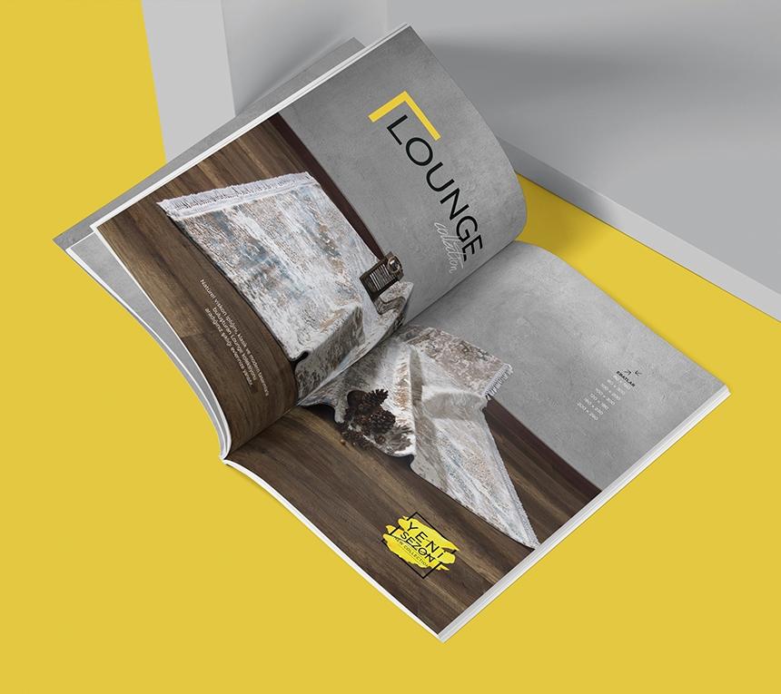 Metraj Halı Katalog Tasarımı